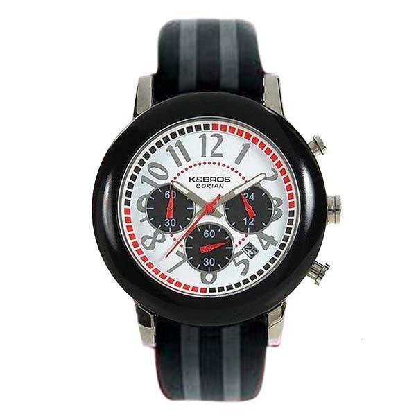 Reloj analógico piel unisex - gris/negro