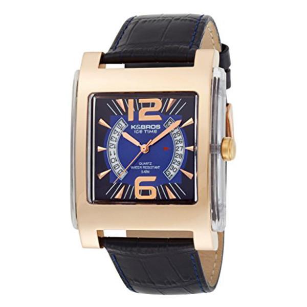 Reloj analógico piel hombre - marino