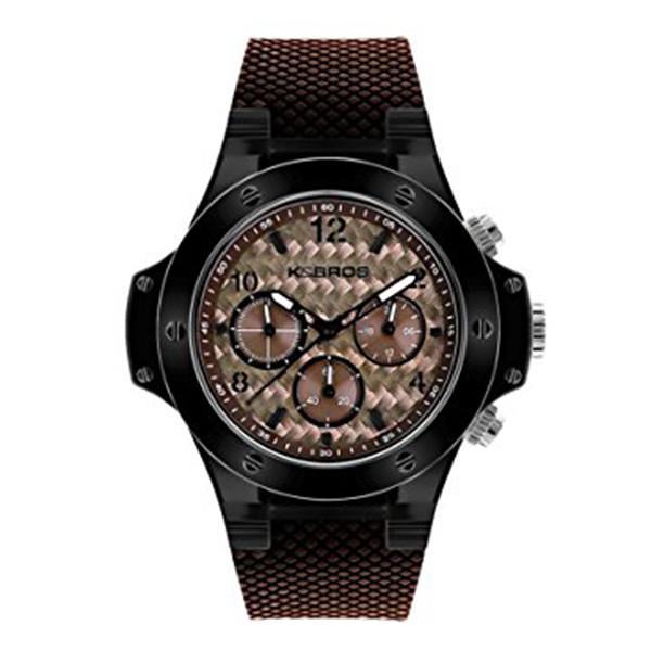 Reloj cronógrafo caucho unisex - marrón