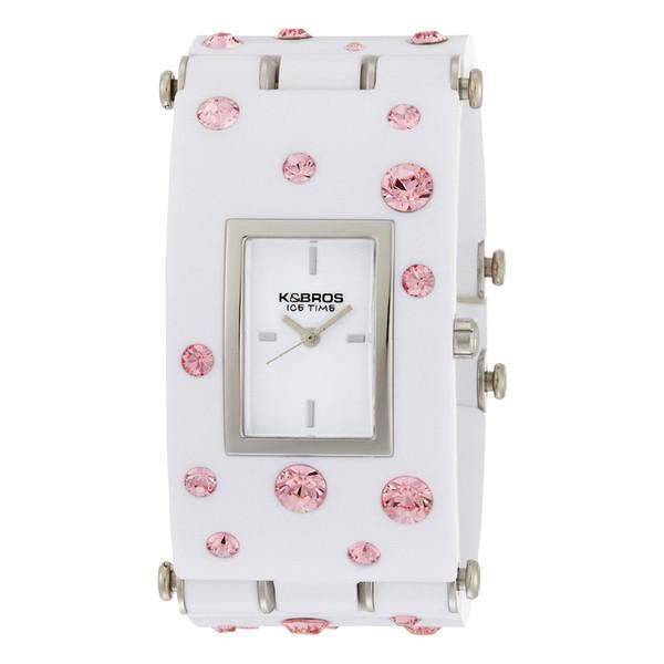 Reloj analógico poliuretano mujer - blanco