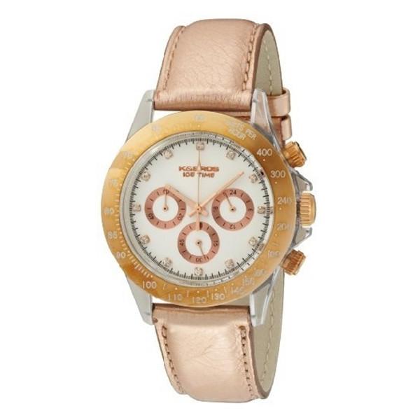 Reloj analógico piel mujer - rosado