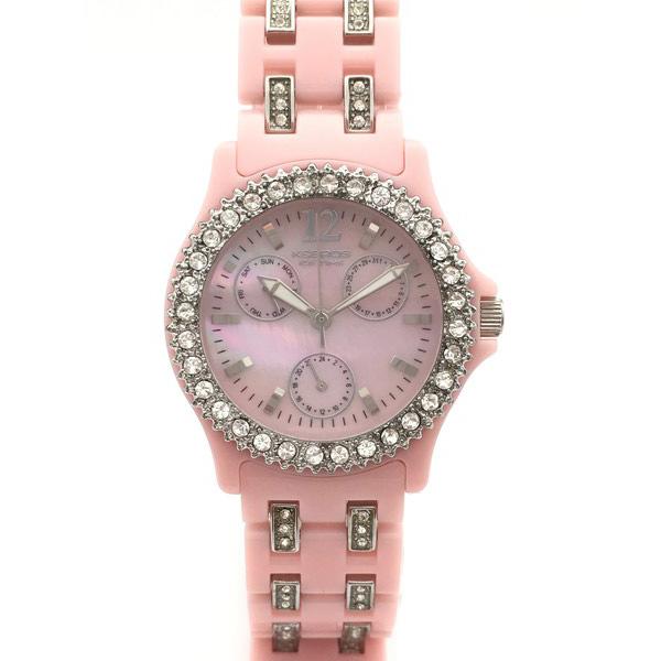 Reloj analógico poliuretano mujer - rosa