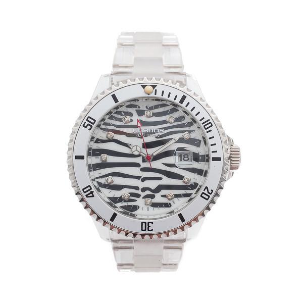 Reloj analógico mujer PVC - transparente