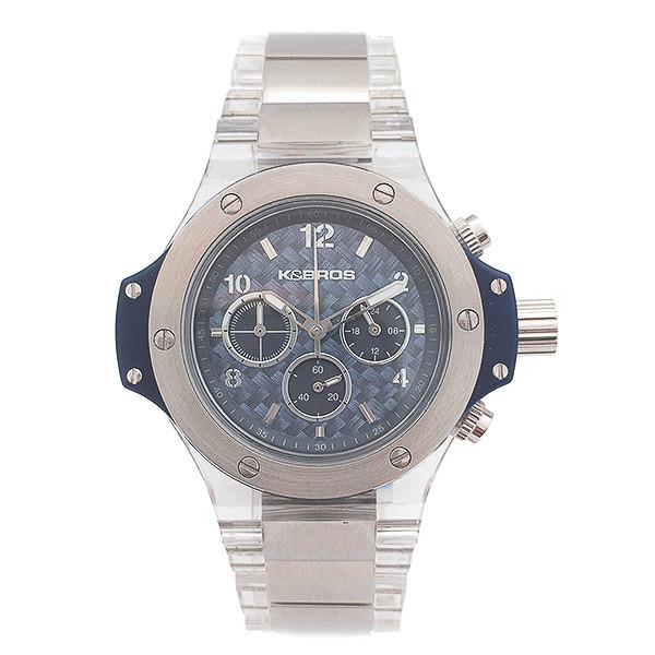 Reloj analógico acero hombre - plateado/transparente