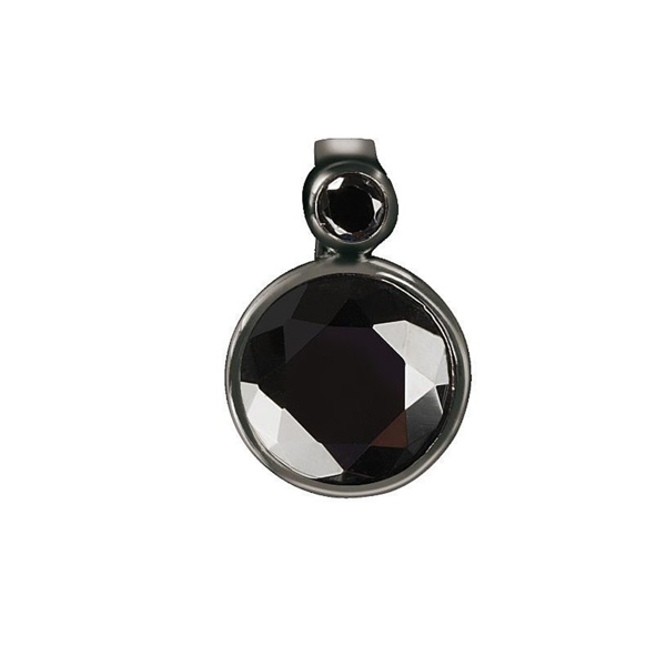 Charm con 2 gemas - negro