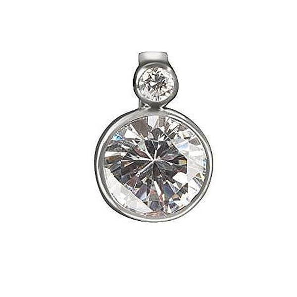 Charm con 2 gemas - blanco