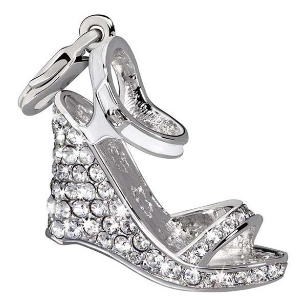 Charm plata zapato - blanco