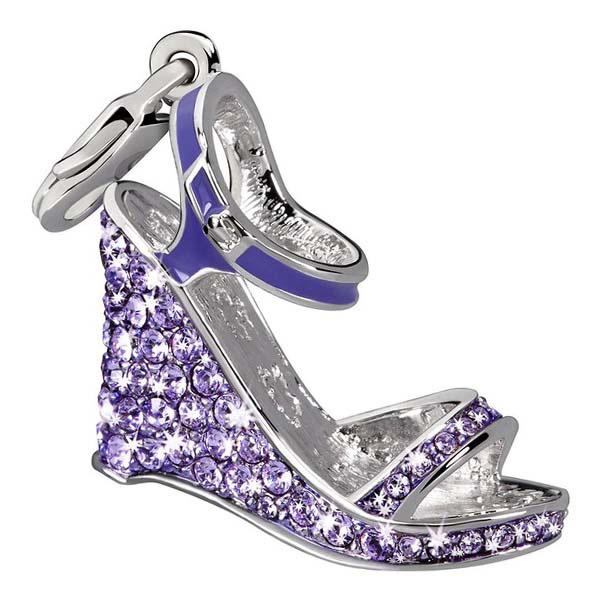 Charm plata zapato - morado
