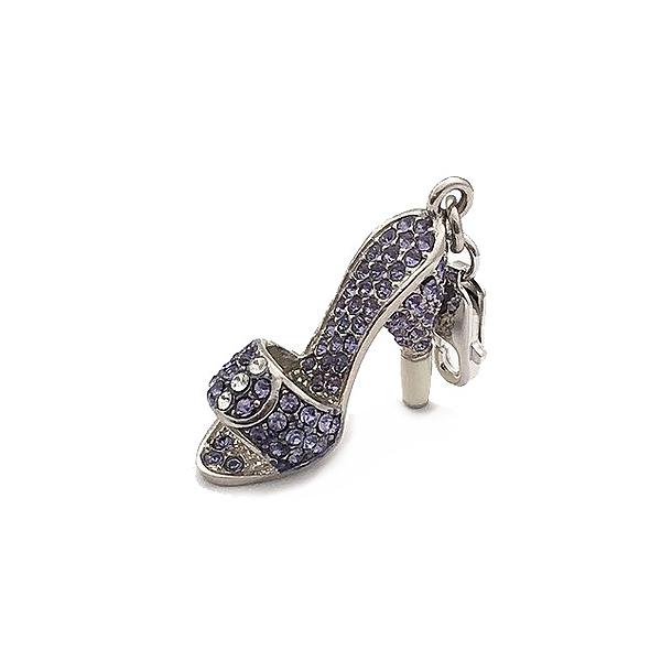 Charm plata zapatos - morado