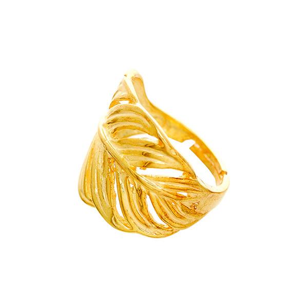 Anillo ajustable baño oro amarillo