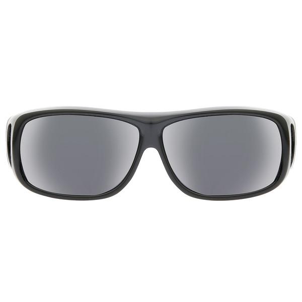 Gafas de sol de unisex Cal. 57 plástico - negro