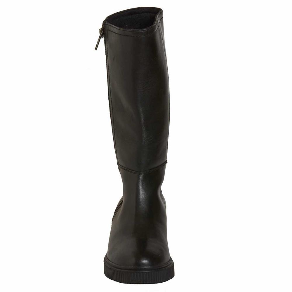 4 cm Bota piel tacón mujer - negro
