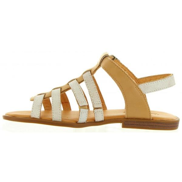 Sandalia piel junior - beige