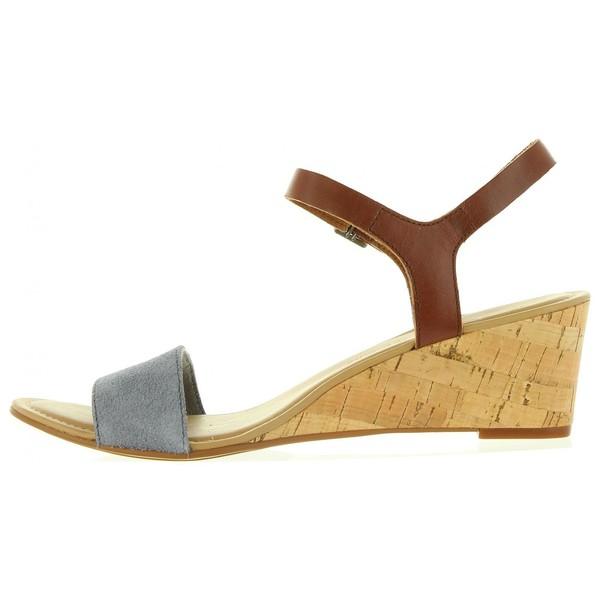 Sandalias cuña mujer - azul