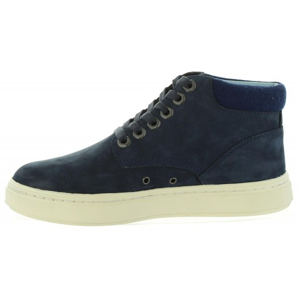 Sneaker piel/textil mujer - azul oscuro