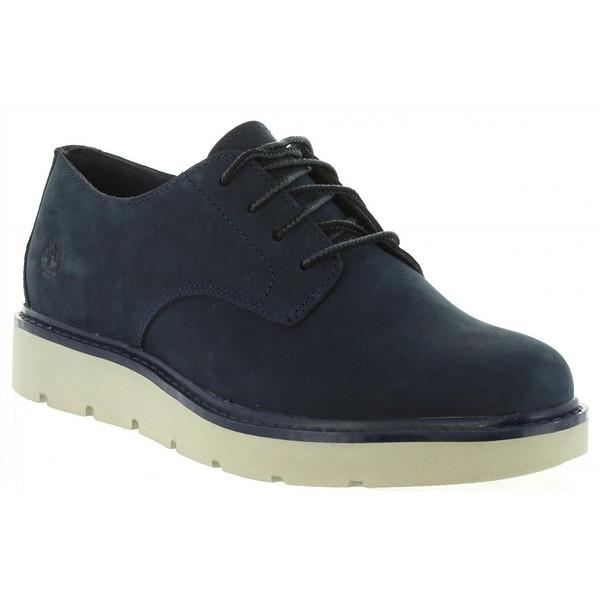 Zapato piel mujer - azul oscuro