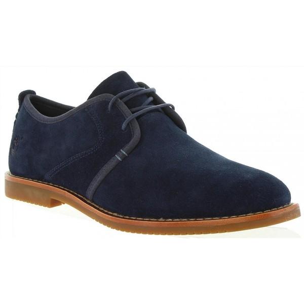 Zapato piel hombre - azul
