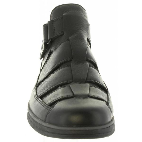 Sandalia piel hombre - negro