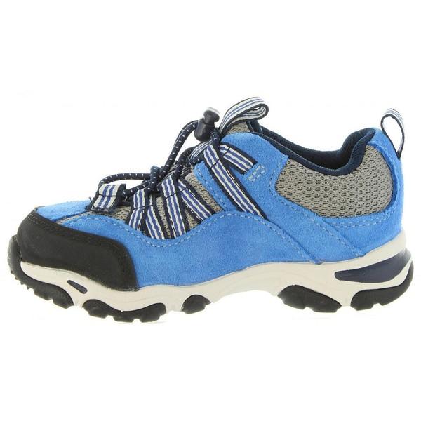 Zapatilla de piel junior - azul