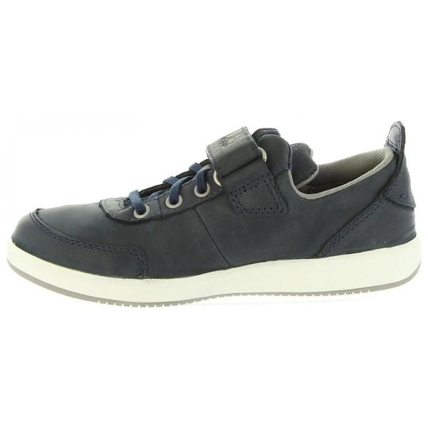 Sneaker piel infantil - marino
