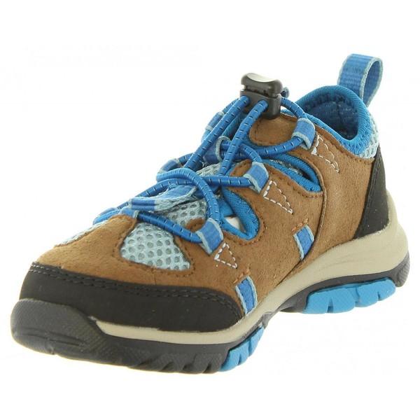 Sneaker piel junior - marrón