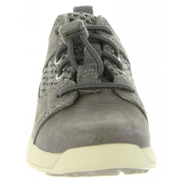 Zapatilla piel junior - gris