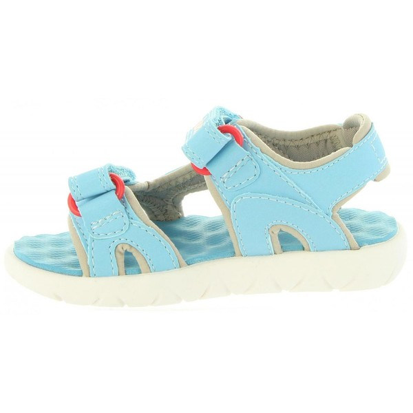 Sandalia piel infantil - azul