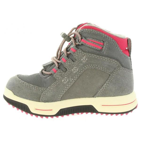 Sneaker piel infantil - gris