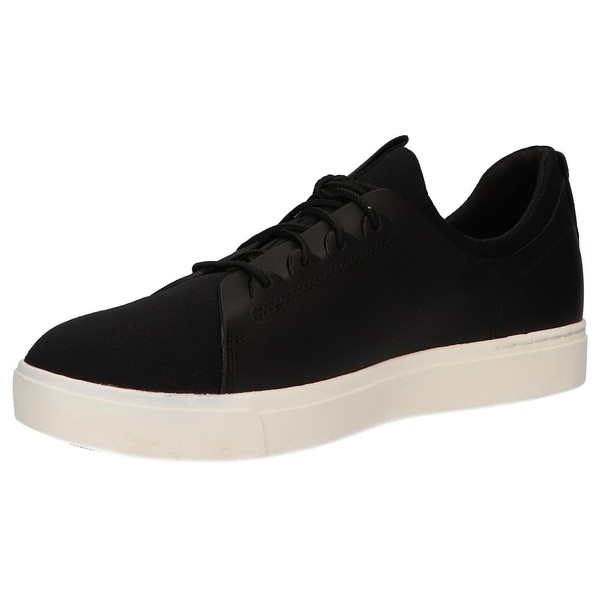 Sneaker piel/textil hombre - negro