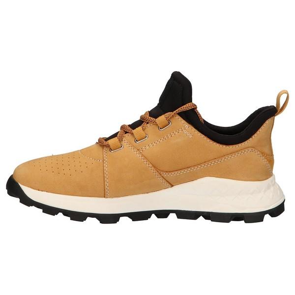 Sneaker piel/textil hombre - beige