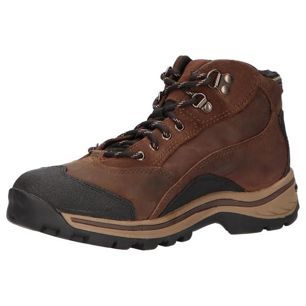 Sneaker piel/textil mujer - marrón