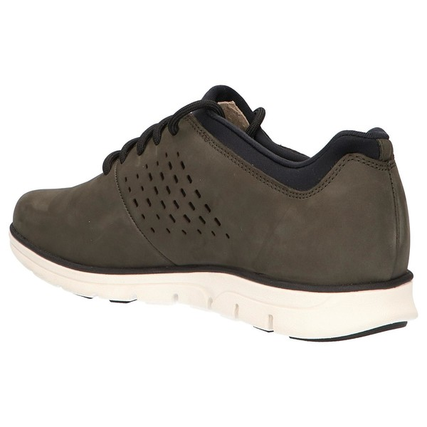Sneaker piel hombre - verde