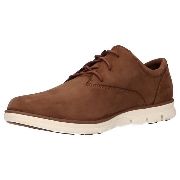 Sneaker piel/textil hombre - marrón