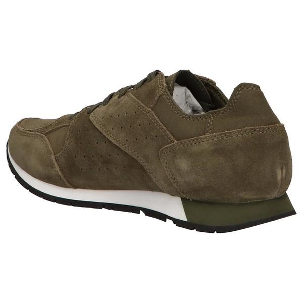 Sneaker piel/textil hombre - verde