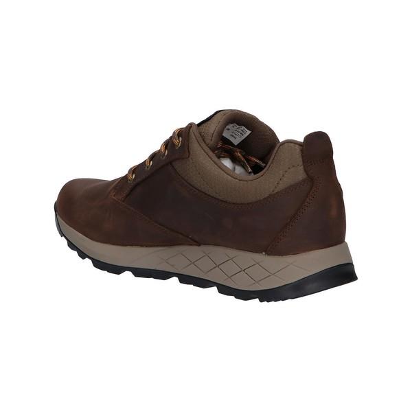 Sneaker piel hombre - marrón