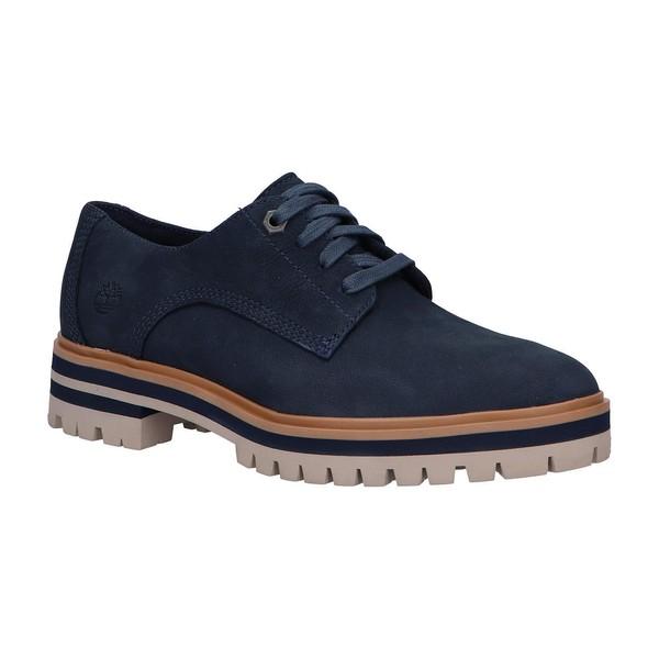 Zapato piel mujer - azul