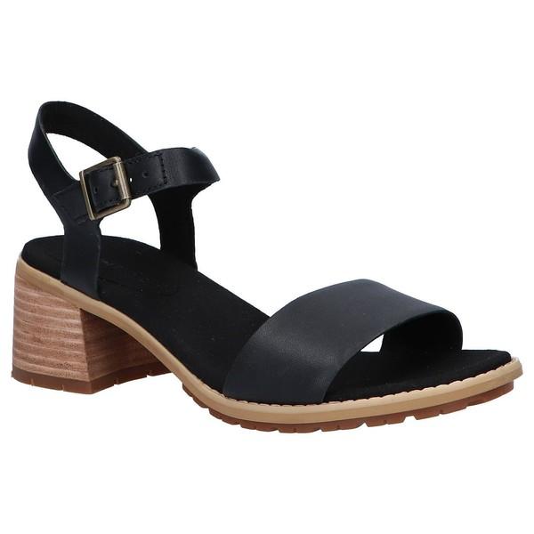 Sandalia piel mujer - negro
