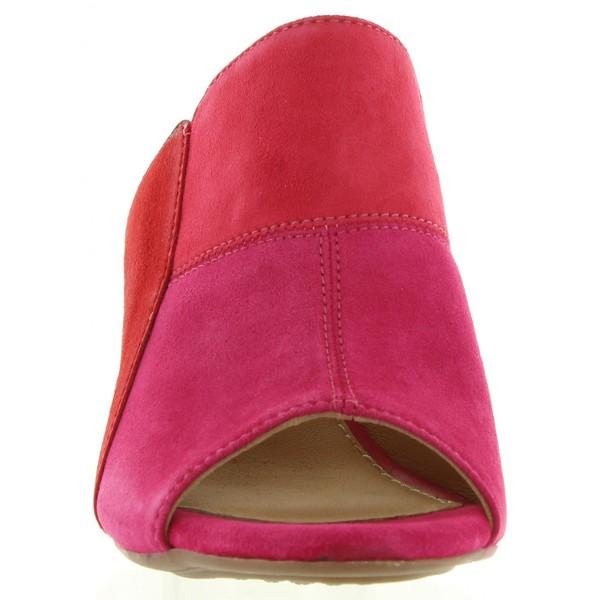 Sandalias tacón mujer - rojo